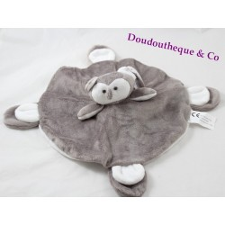 Doudou flat owl owl LEONIE'S FRANCE round white brown
