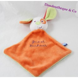 Doudou plat chien SUCRE D'ORGE orange vert cocard orange 21 cm