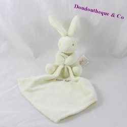 Doudou Rabbit BABY NAT' white handkerchief 16 cm