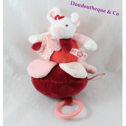 Musical towel Clementine mouse DOUDOU AND RED COMPAGNY DC2617