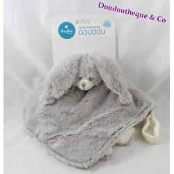 Doudou plat lapin AINSIFONT fourrure gris beige Céora