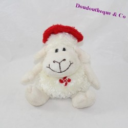 NEMERY sheep towel - CALMEJANE red beret on head 15 cm