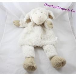 Peluche range pyjama mouton MAISONS DU MONDE beige bandana 52 cm