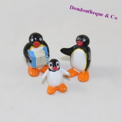 Lot of 3 plastic KINDER Pingu figurines
