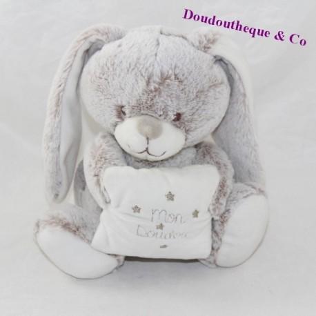 Musical bunny tex BABY My soft beige cushion 19 cm