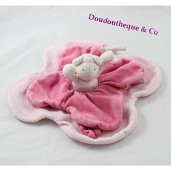 Doudou flat mouse MOULIN ROTY Lila and Patachon pink 26 cm