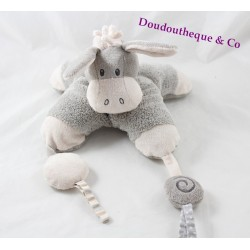 Awakening towel Lungo donkey NATTOU cappuccino white gray 22 cm