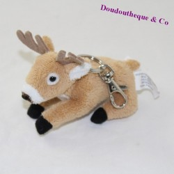 Wearer plush deer STUFFED ANIMAL HOUSE brown reindeer 10 cm