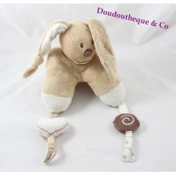 Awakening towel Mokka rabbit NATTOU white beige cappuccino 22 cm
