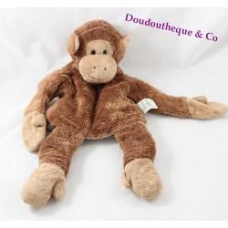 Doudou marionnette singe HISTOIRE D'OURS marron 36 cm