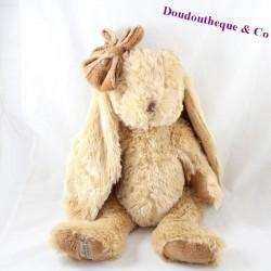 Rabbit cub BUKOWSKI beige brown knot 40 cm