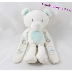 Doudou bear TAPE A The OEIL make me a blue white hug 25 cm
