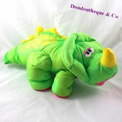 Dinosaur stuff FISHER PRICE Puffalump green pouet son 42 cm