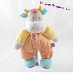 Vache vache SUCRE D'ORGE orange orange yellow blue buttons 26 cm