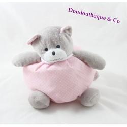 Sweet ball bear MUSTI OF MUSTELA grey pink white polka dots