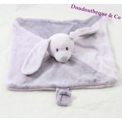 Doudou flat rabbit BABOU mauve tie 24 cm nipple