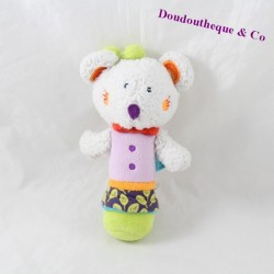 BabySUN mouse rattle pouet purple green baby toy 16 cm