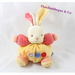 Doudou rabbit KALOO Pop orange orange ball 18 cm