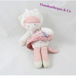 Doudou doll SUCRE D'ORGE attaches cat tetin pink heart