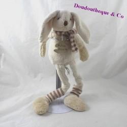 Doudou lapin HISTOIRE D'OURS Frimousses chaussettes écharpe 33 cm