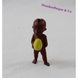 Figure Kirikou Michel Ocelot black boy with yellow fruit 8 cm