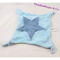 Doudou flat star ABSORBA blue stripes teat tie