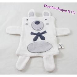 GroOTE white white tie 25 cm flat tie