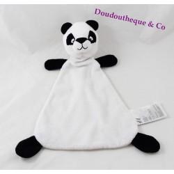 Doudou plat panda H&M noir et blanc 32 cm