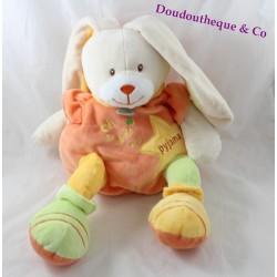 Peluche range pyjama Stellou lapin BABY NAT' Stello et Stella 40 cm