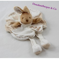 Doudou flat rabbit DOUDOU AND COMPAGNIE organic round beige legs