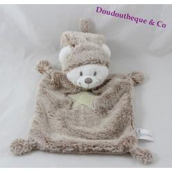 Doudou flat bear SIMBA TOYS BENELUX brown star peas 23 cm