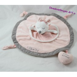SAUTHON Lilibelle pink round pink flat doudou 30 cm