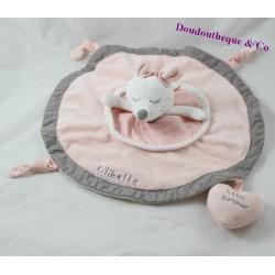 SAUTHON Lilibelle pink round pink flat doudou 30 cm
