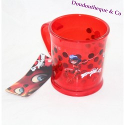 Ladybug MIRACULOUS Marinette clear red plastic cup