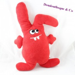 Peluche lapin TISSEA rouge 43 cm