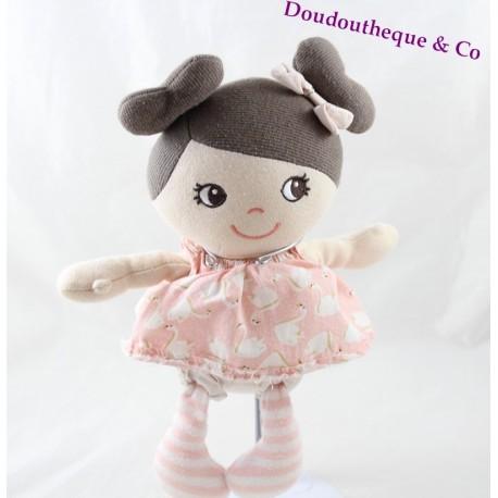 Doll plus doll H-M pink dress swans duvets 27 cm
