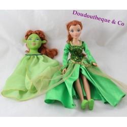 Muñeca Fiona Shrek que se transforma en un ogro con máscara