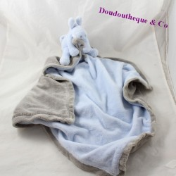 Doudou cover Paco the donkey NOUKIE'S My first grey blue blanket