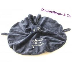 ME GRONDER blue navy round round rabbit dish