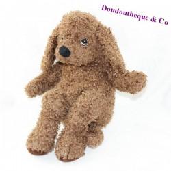 Stuffed dog IKEA brown spaniel curly hairs 35 cm