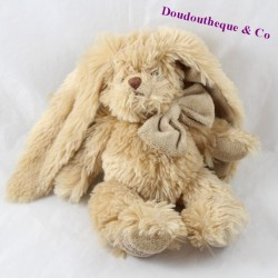 Rabbit cub BUKOWSKI beige brown knot 25 cm