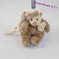 Doudou bear BUKOWSKI beige velvet 16 cm
