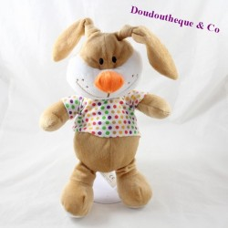 FIZZY rabbit towel beige t-shirt with polka dots orange nose 30 cm