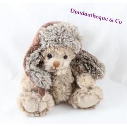 BuKOWSKI chapka beige brown bear towel 18 cm