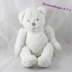 Peluche ours JACADI pantin articulé blanc 30 cm
