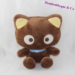 Peluche chat SANRIO Chococat marron assis 23 cm