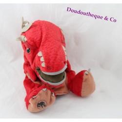 Doudou marionnette à main dinosaure JURASSIC WORLD rouge