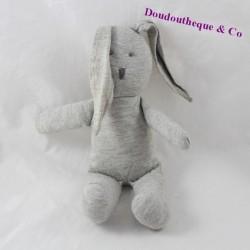 Doudou rabbit PETIT BATEAU grey 23 cm
