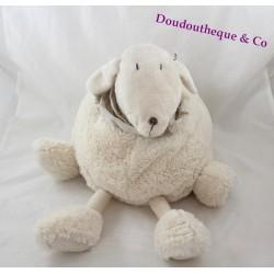 Peluche Belle mouton DIMPEL agneau crème RARE 40 cm