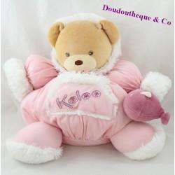 Doudou patapouf bear KALOO Igloo pink Eskimo 28 cm